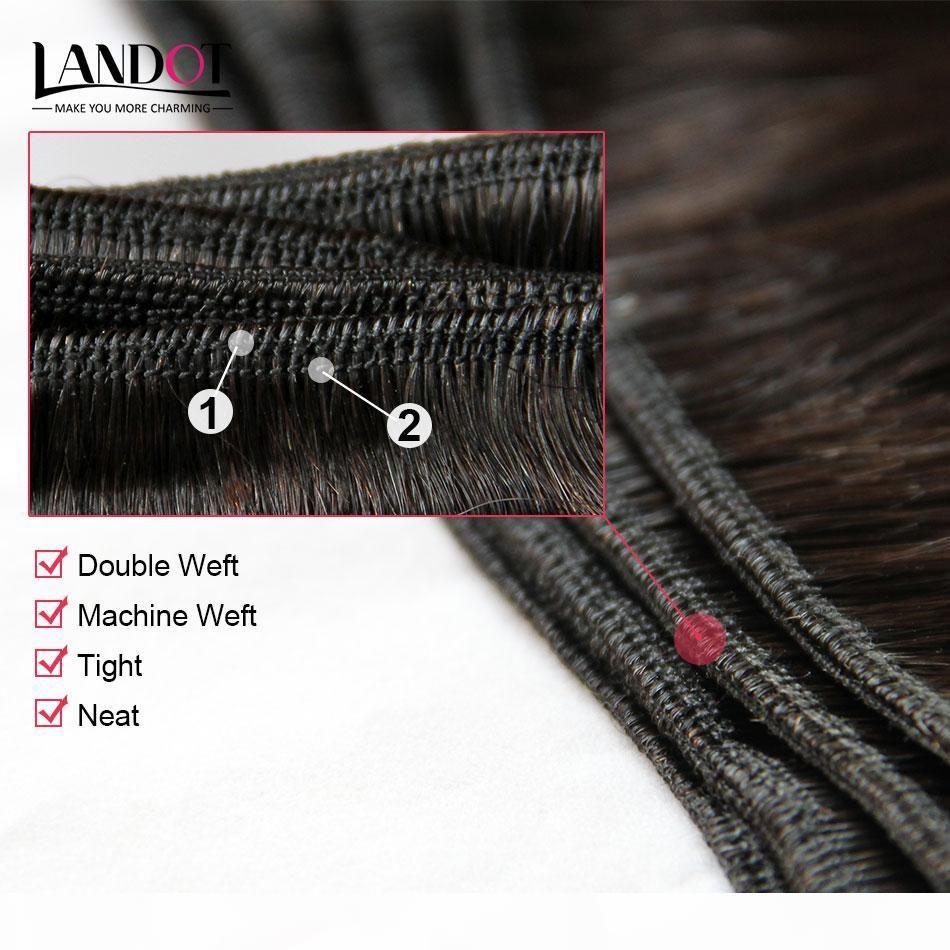 Pelo recto peruano 100% sin procesar Peruano de tejido humano Paquetes de tejido Grado 8A Extensiones de cabello peruano 3pcs Lot Natural Color Dyable