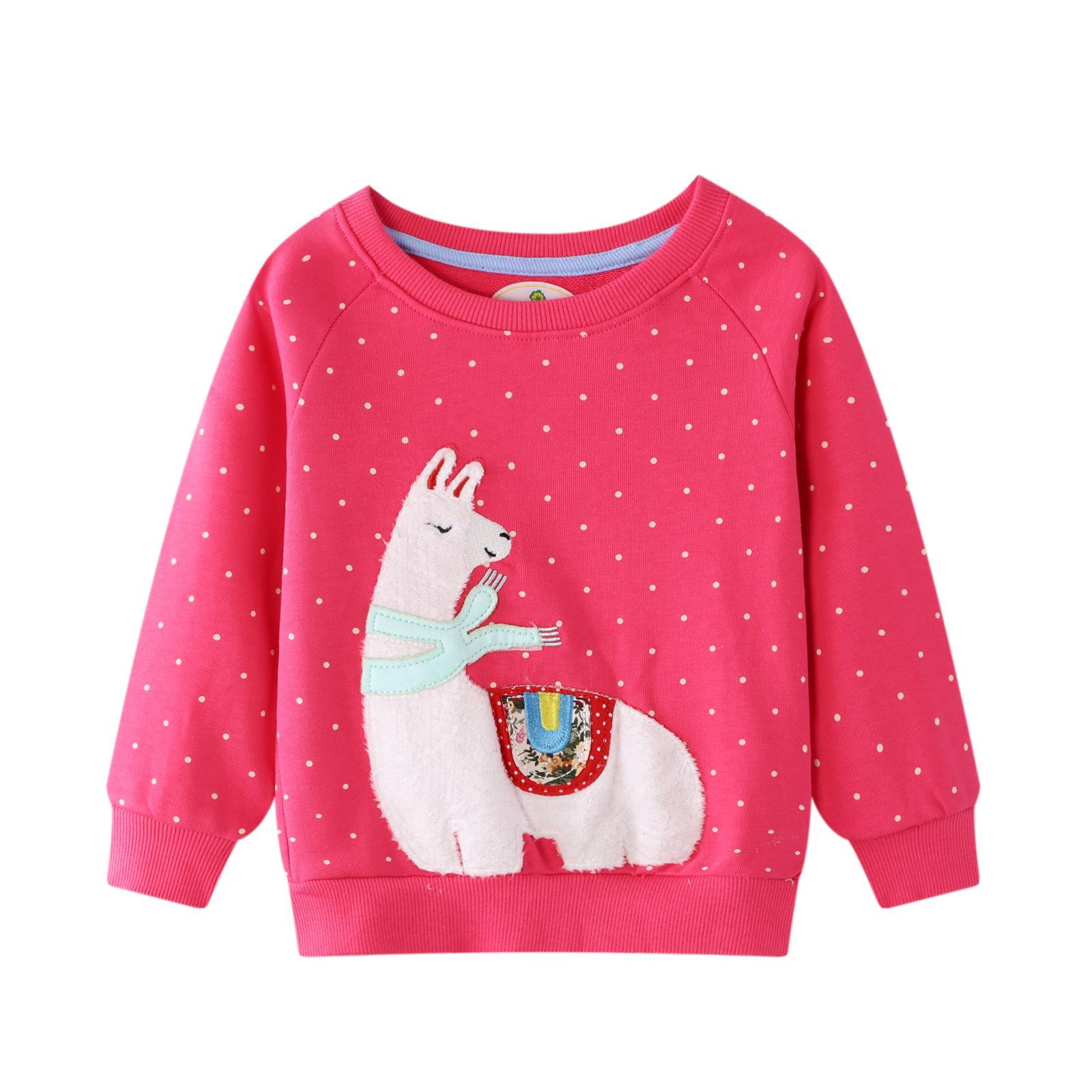 Девушки Толстовка Детская толстовка с Аппликацией животных Осень зима детская одежда детская толстовка для девушек толстовки 2-7