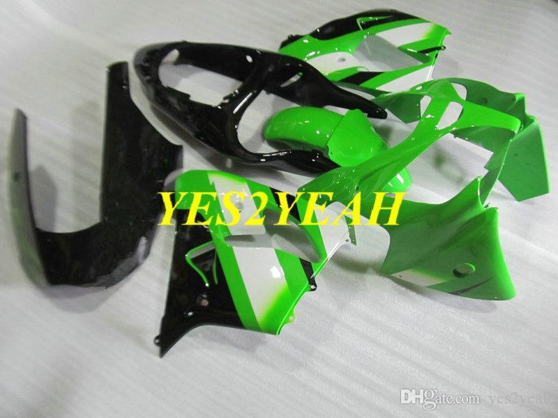 Barrio de molde de inyección Bodywork para KAWASAKI NINJA ZX-9R ZX9R 2000 2001 ZX 9R 00 01 ABS Green Black Body Kit + Regalos KK17