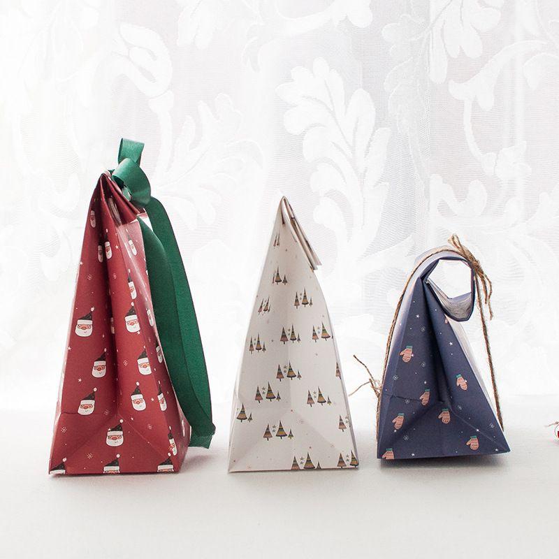 هدية عيد الميلاد التفاف ورقة حقيبة عيد الميلاد حزب الكوكيز الحاضر هدية حقيبة عيد الميلاد حزب ديكورات الإمدادات DHF3534