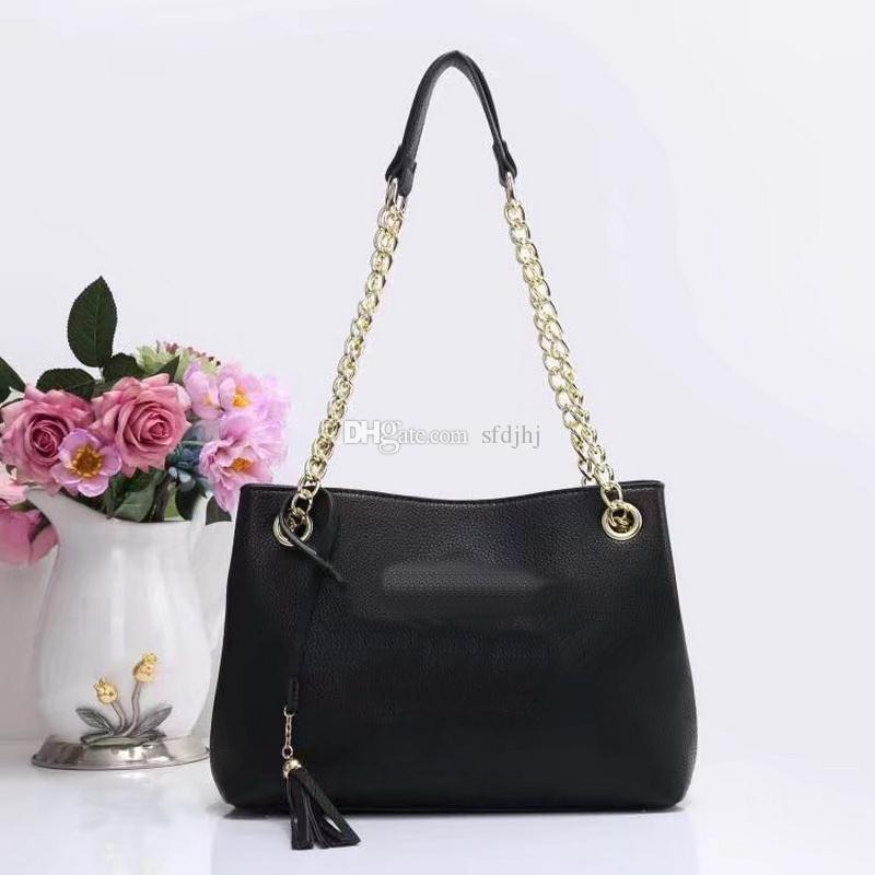 2020Hot Vente Top qualité Mode Femmes Sacs à main noir Portefeuilles chaîne en cuir Crossbody Bag Sacs à bandoulière Messenger sac fourre-tout Sac 4color