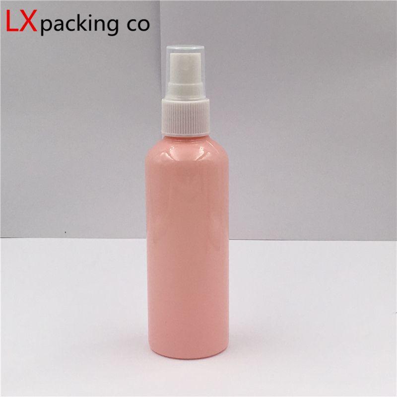 50 adet 10 ml 30 ml 50 ml 100 ml pembe plastik püskürtme şişeleri beyaz püskürtücü parfüm kozmetik kaplar