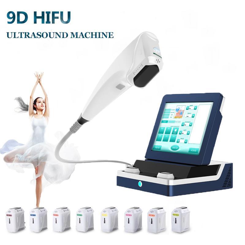 High End 3D Hifu Машина для лица Лифт Кожа Подтягивание 9D Тело Для похудения Машины Интенсивность Сосредоточенное Ультразвуковое косметическое оборудование