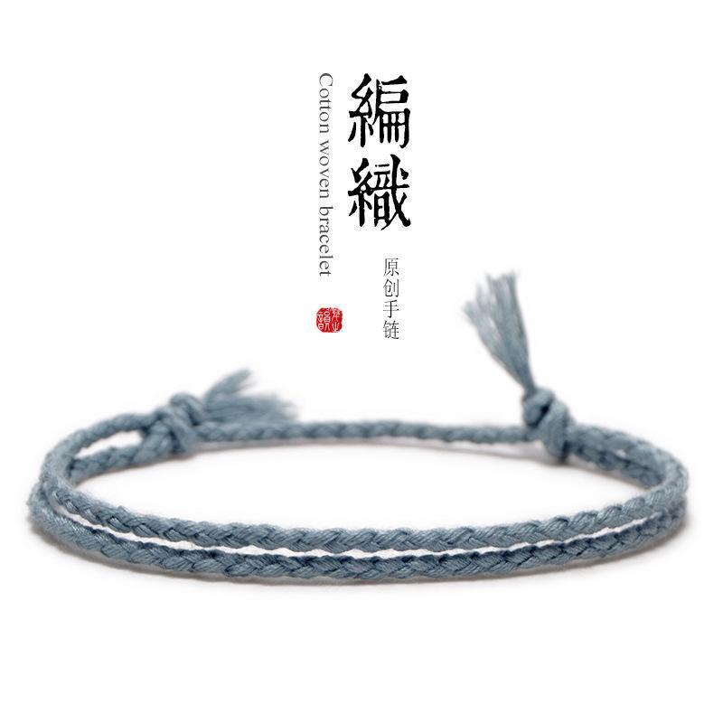 Braccialetto variopinto delle donne del braccialetto delle donne fatte a mano del braccialetto della corda del braccialetto della corda del braccialetto all'ingrosso # XL017