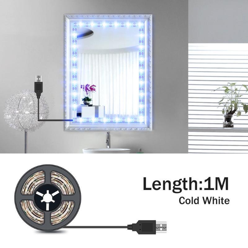 5M Vanity Mirror Lights LED Dressing Table Makeup Light USB 5V Cosmetic Lamp Hollywood Lighting LED Wall Lamp Flexible