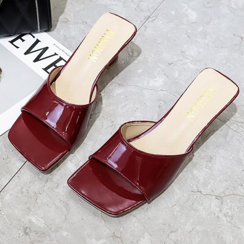 Hausschuhe Solide Farbe Sommer Damen Mode Slip On Office Schuhe Slides Womens Zapatillas Mujer Casa