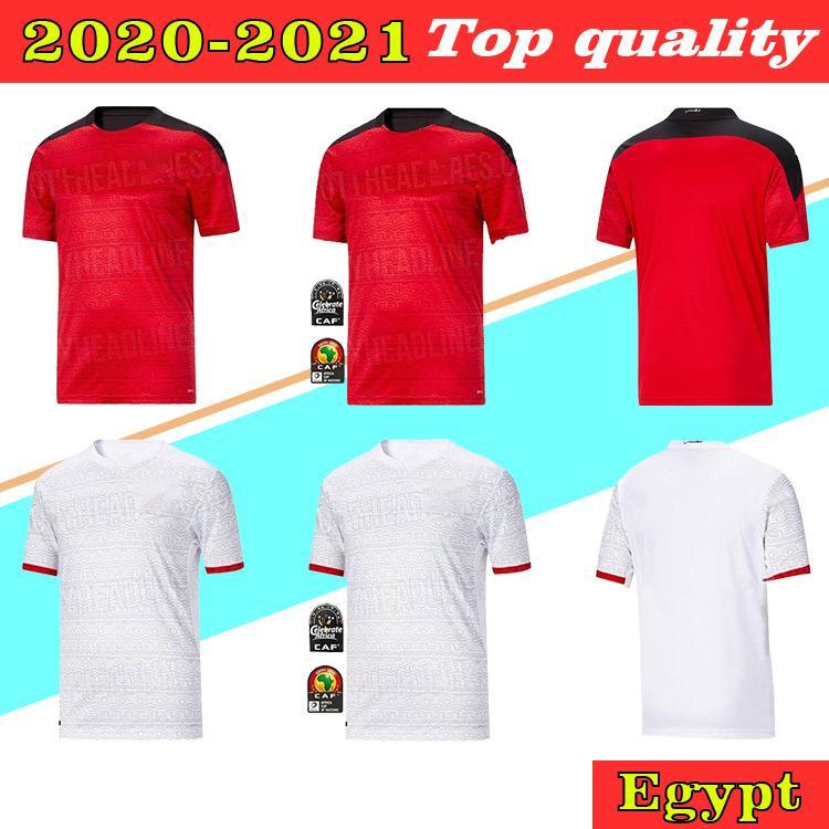 2020 Nuevo Egipto Home Soccer Jersey Egipto 2021 Egipto # 10 M.Salah Camisa de fútbol Away A. Hegazi Kahraba Ramadan M.Elneny Uniformes de fútbol