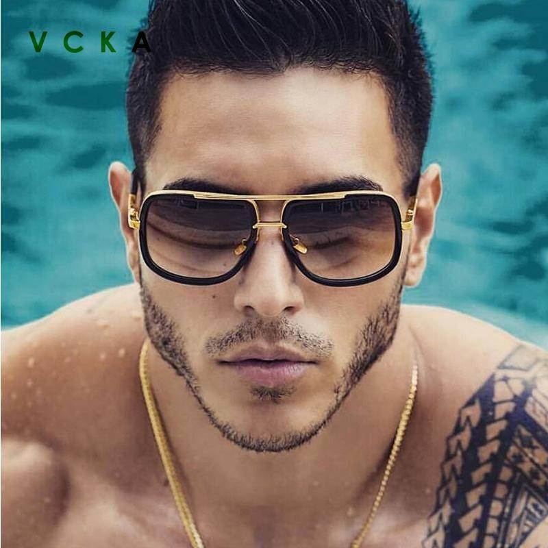 VCKA Classic Fashion Retro For Glamour Brand Luxury Sun Glasses Men Women Vintage Mirrored Shades Square Designer Sunglasses Onipb
