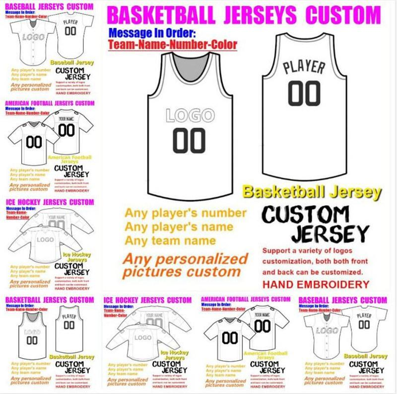 Custom Basketball Baseball Glace Hockey American Football Jerseys pour hommes Femmes Jeunesse Collège Populaires2021 Soccer Jersey Jersey Rush 4XL 5XL 6XL
