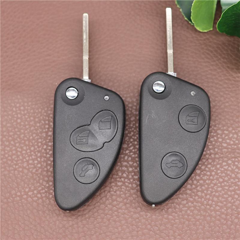 2 3 Кнопки Клавиша Оболочка Автомобиль Flip Удаленный ключ Оболочка FOB Невыразительный SIP22 Лезвие для Alfa Romeo 147 156 166 GT Key