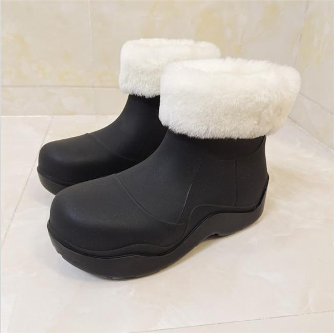 Mulheres Moda Joelho-Alto Alto Botas de Chuva Inglaterra Estilo Impermeável Botas Welly Botas De Borracha Rainboots Sapatos De Água Rainso A Árvores Mantenha sapatos de senhoras quentes