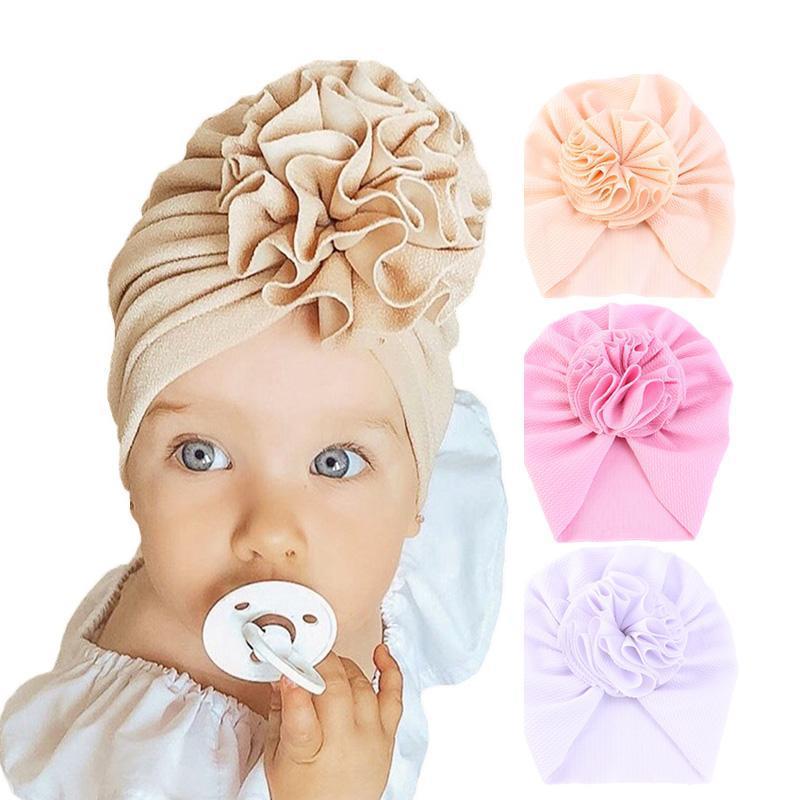 Cute Flower Decor Toddler Fascia per bambini Candy Color Turban Headwear Capelli Capelli Neonate Accessori per capelli di moda