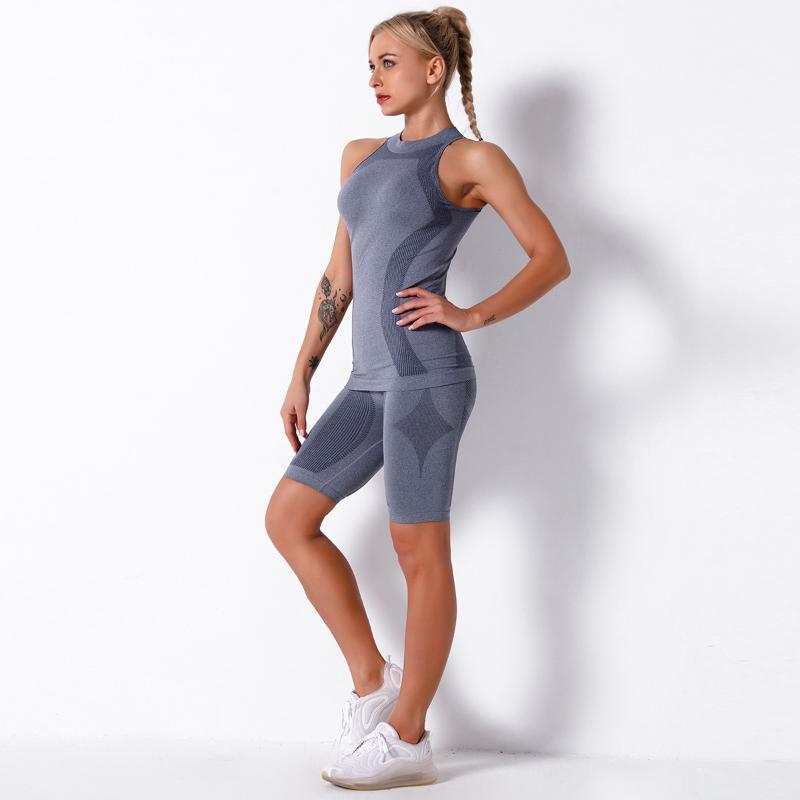 Набор тренажерный зал Женщины бесшовные йоги набор фитнес тренировки наборы йоги набор для женщин спортивные женские спортивные костюмы женщин 2 шт.