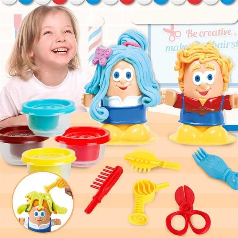 Çocuklar Hamur Yaratıcı 3D Eğitim Modelleme Kil Hamuru Aracı Kiti DIY Tasarım Saç Modelleri Model Oyuncaklar Çocuklar için 201226
