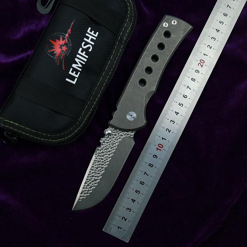 YDC Samier Нож Высококачественные Chaves Нож красных раскладных ножей S35VN Подшипник подшипника Анодированный титановый ручка Тактическая выживаемость Knif