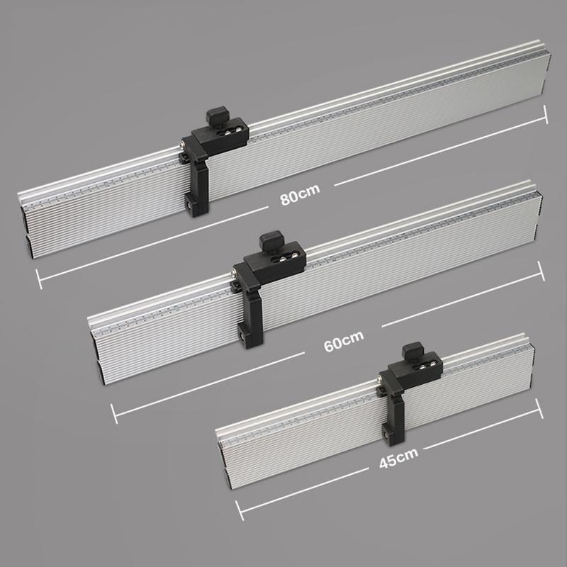 Holzbearbeitung Gehrungsmesserzaun Tischsägezaun und T Track Slot Schiebehalterungen Spur Stopper Stecker