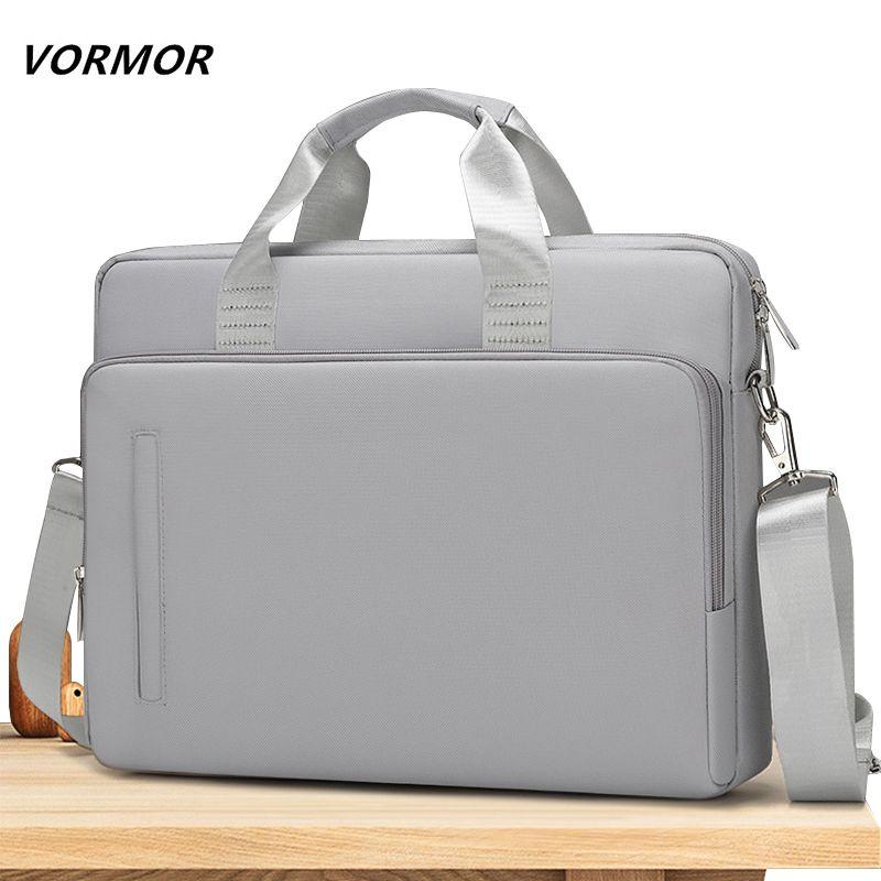 HBP Laptop Briefcase 14&15.6 inch Waterproof Notebook Handbag Business Shoulder Bag for Men and Women Q0112