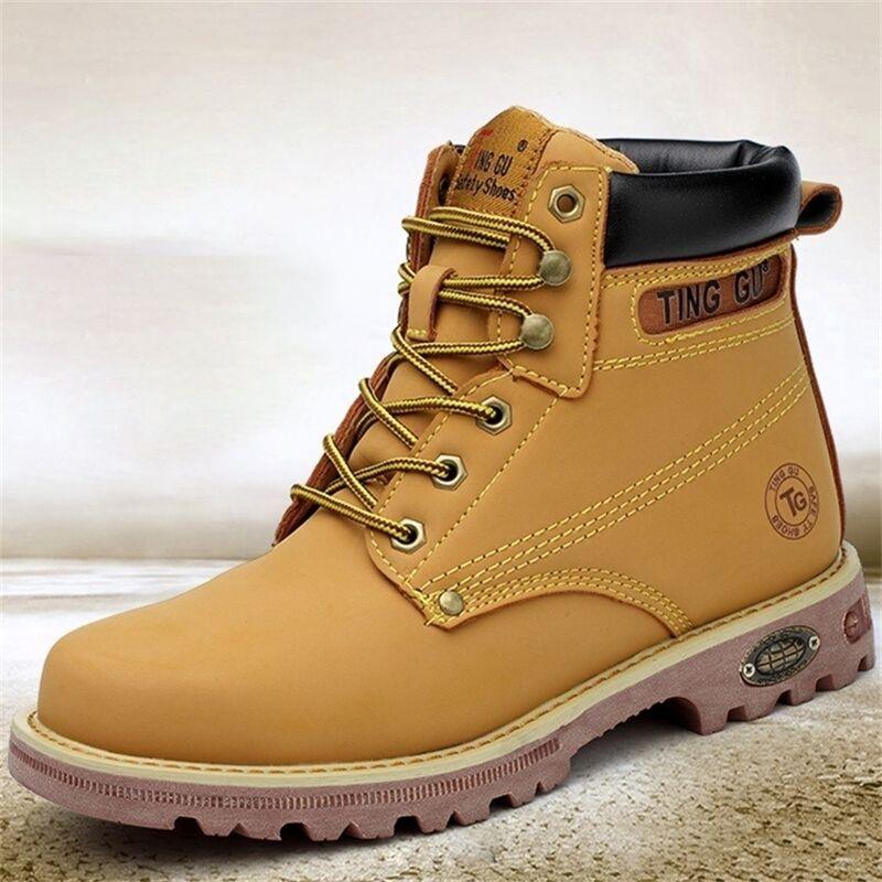 Hombres de invierno Senderismo PunCTURTE-Proof Toe Work Shoes Zapatillas de deporte al aire libre Botas militares Tácticas Y200915