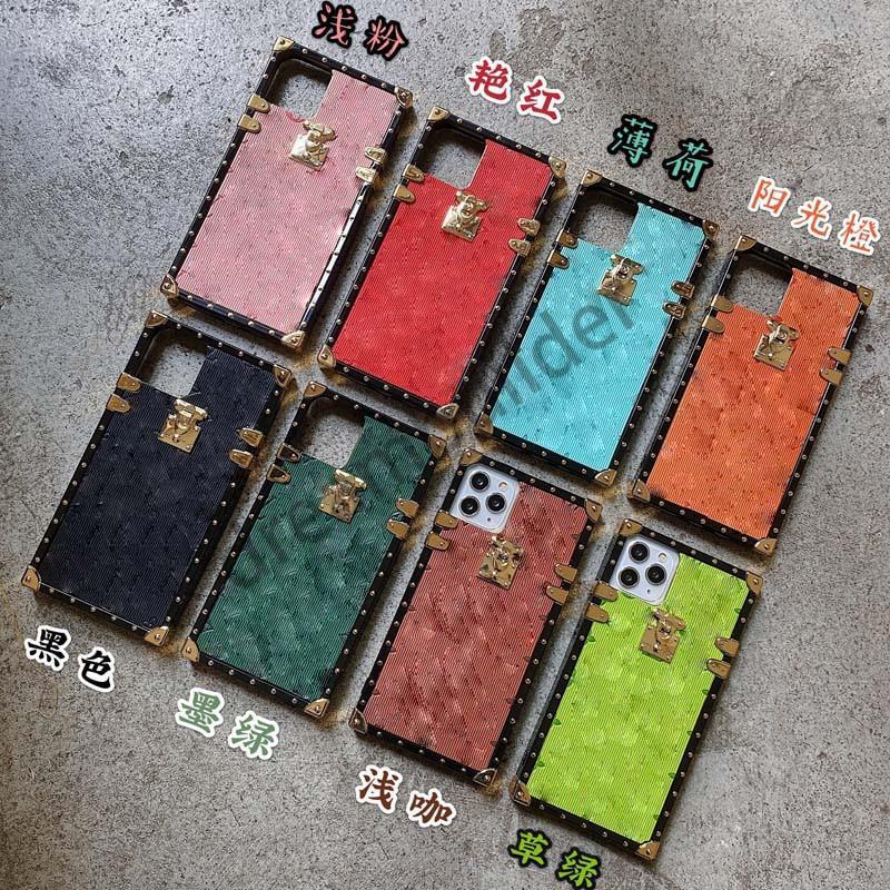 Designer de moda iphone 12 pro máximo 12 mini 11 XR Xs max 7/8 mais shell de telefone de couro pu para samsung s20 s10 plus nota 8 9 10