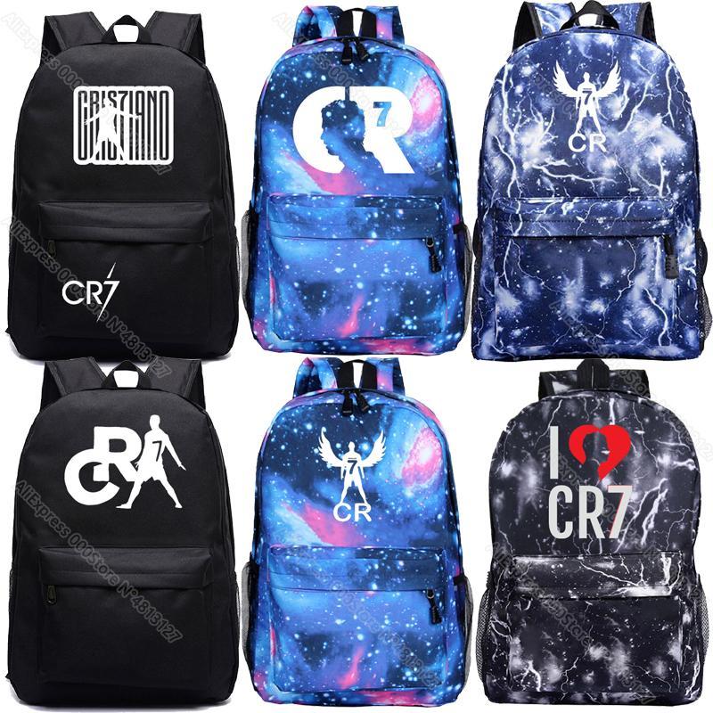 كريستيانو رونالدو حقيبة ظهر جميل CR7 حقيبة الظهر مدرسة حقيبة الظهر العودة إلى المدرسة هدية الحقائب المدرسية الفتيان الفتيات حقيبة الظهر C0121