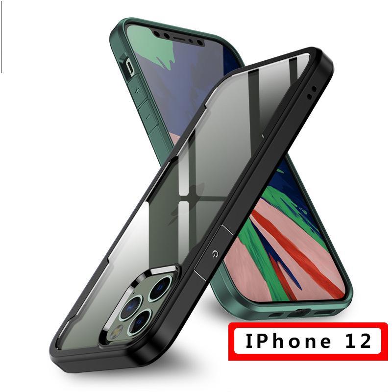 Apple 12 Cep Telefonu Kılıfı Için IPhone 12 Pro Şeffaf Anti-Damlası Durumda Apple 12 Prokax Koruyucu Kılıf Cep Telefonu Kılıfları