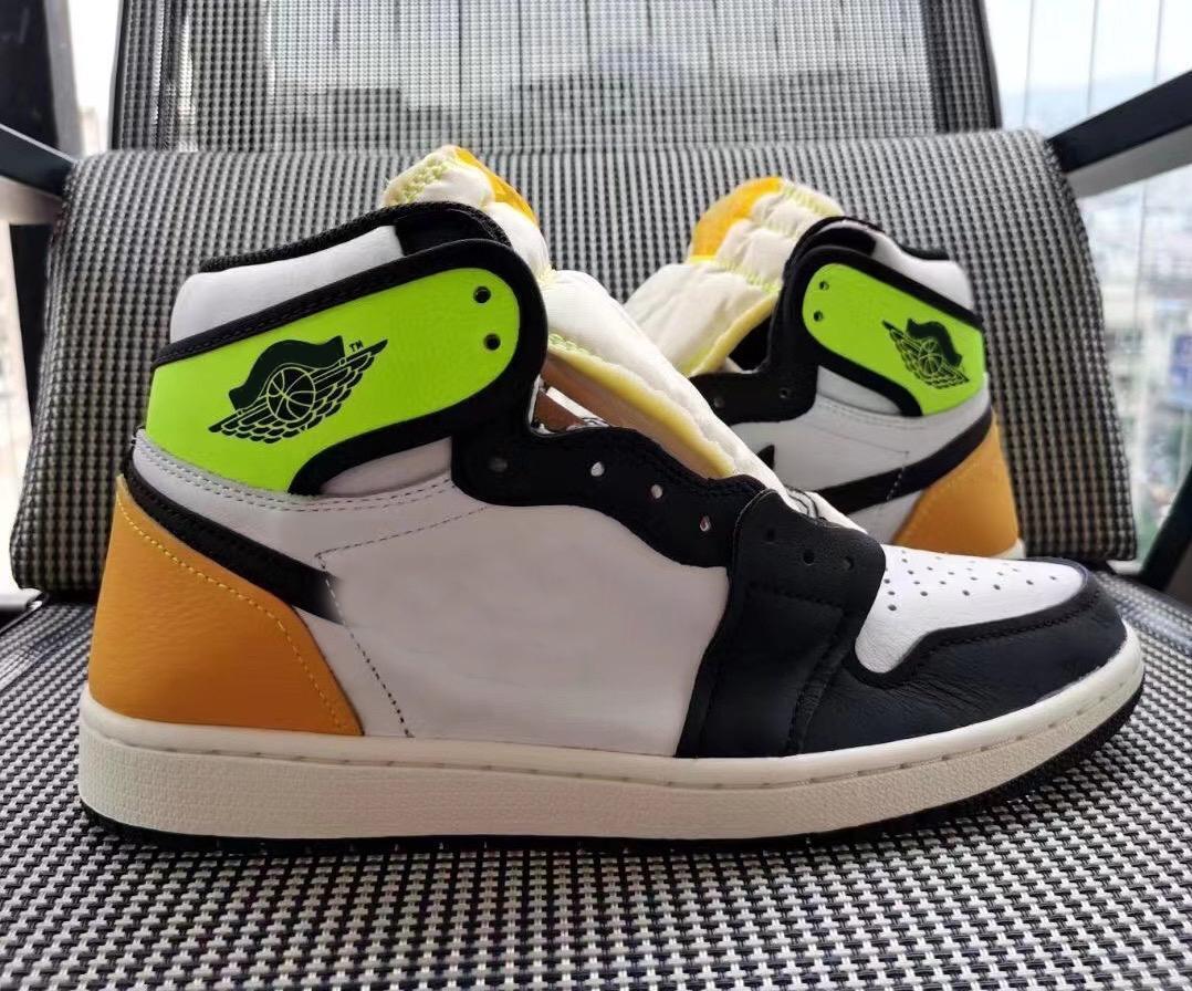 2021 новый аутентичные 1 высокий og вольт золотая кожа белый университет чернокожие мужчины женщины наружные туфли спортивные кроссовки с коробкой