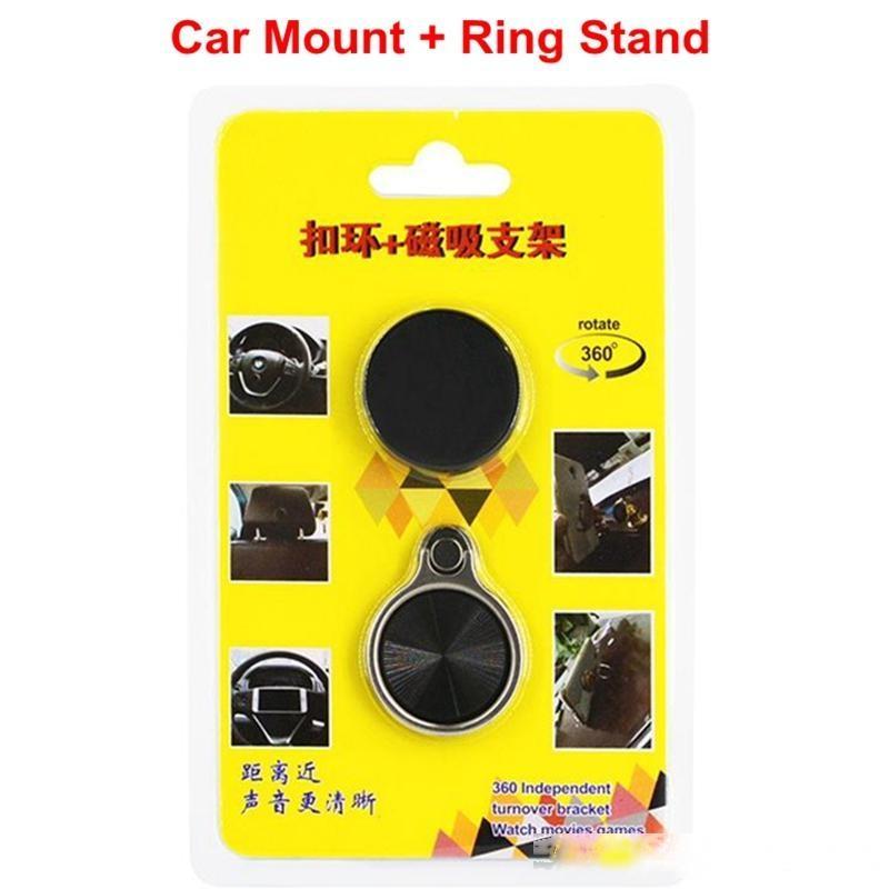 Bague universelle Bague avec support de montage de voiture Porte-téléphone portable avec package de détail 3M Bague de colle Porte-téléphone DHL