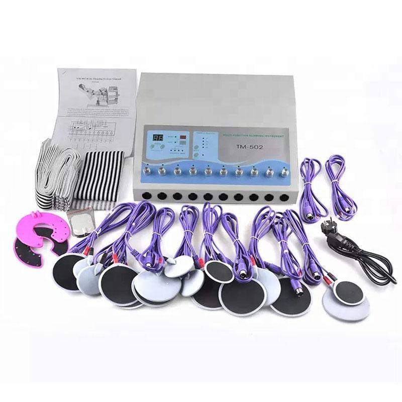TM-502 Máquina de perda de peso Máquinas de estimulação muscular elétrica Electro gordura perdendo o corpo Meridian Fisioterapia emagrecimento