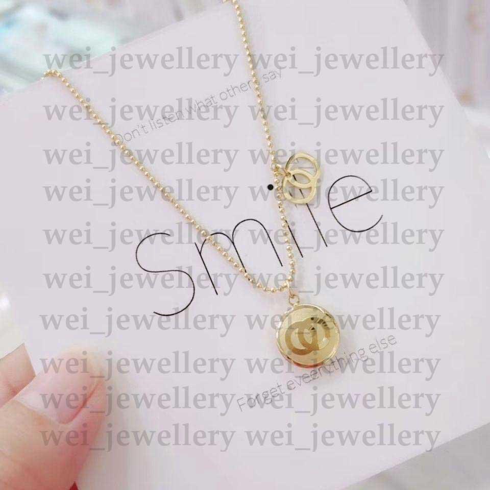 Nouveau Collier en or Collier en or Pendentif de luxe Collier Collier Femmes Collier Designer Bijoux Colliers Best Qualité