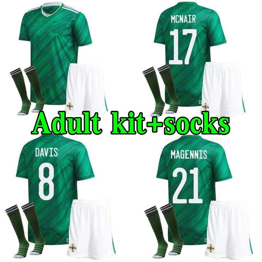 2020 men Kit Northern Ireland Soccer Jerseys home away 20 21 LAFFERTY DAVIS MAGENNIS EVANS MCNAIR BOYCE adult kits Football Uniform Shirt