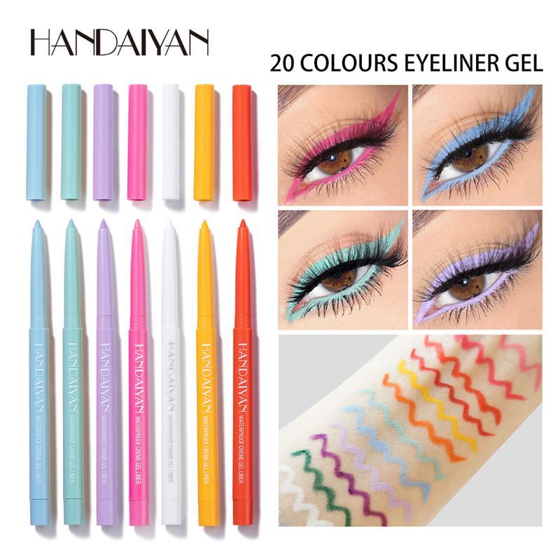 Dropshipping New Handaiyan Creme Gel Liner 20 Couleurs Eye-liner Gel Waterproff Crayon Eye En stock avec cadeau