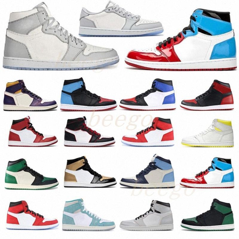 50 + Renk [Kutusu ile] 2021 Adam Bayan Jumpman Korkusuz Chicago Bred Toe Obsidiyen Mocha Saten Retro Ayakkabı 1 1 S Erkek Basketbol Sneakers 36-4e7em #