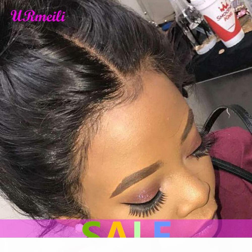 360 кружева фронт человеческие волосы парики бразильские прямые предварительно сорванные с детским волосом полное кружевное реми камер человеческий парик для чернокожих женщин