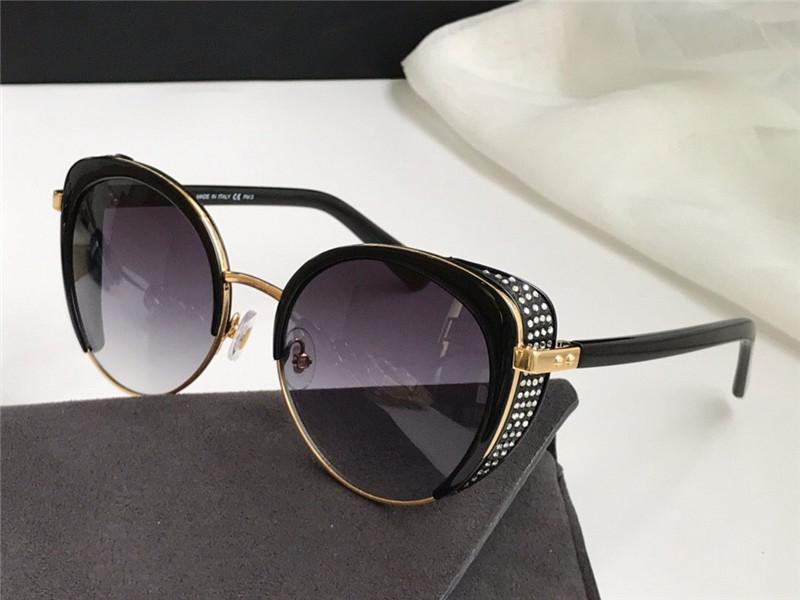 Lunettes de soleil design de mode Gabby / F / S Charmant chat lunettes de chat cadre Masque oculaire incrusté Crystal POP et de style généreux UV400 Protecteur