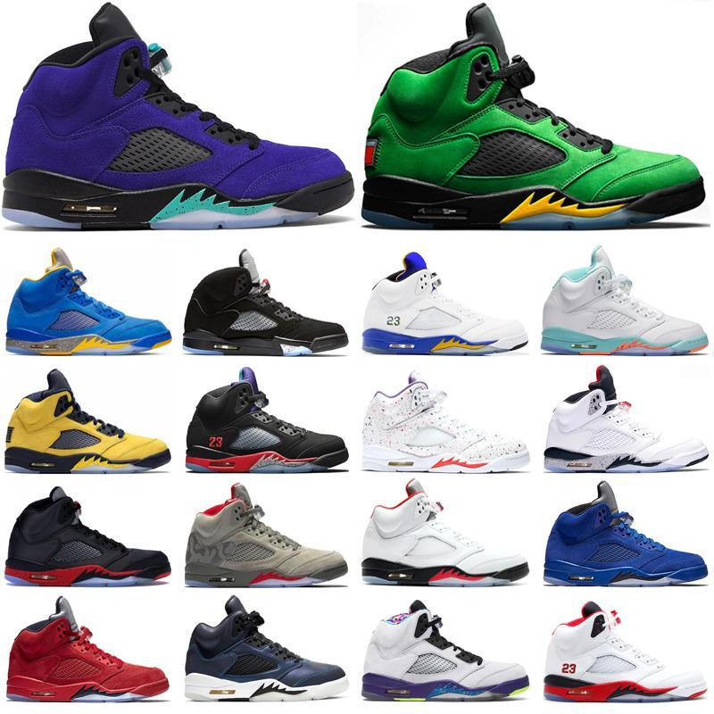 2021 Basketball Shoes 75 Men Black Metallic 5 Reflect 3s Grape Oreo 5s Red Suede White 3 Cement Sports athletic Sneaker 7-13