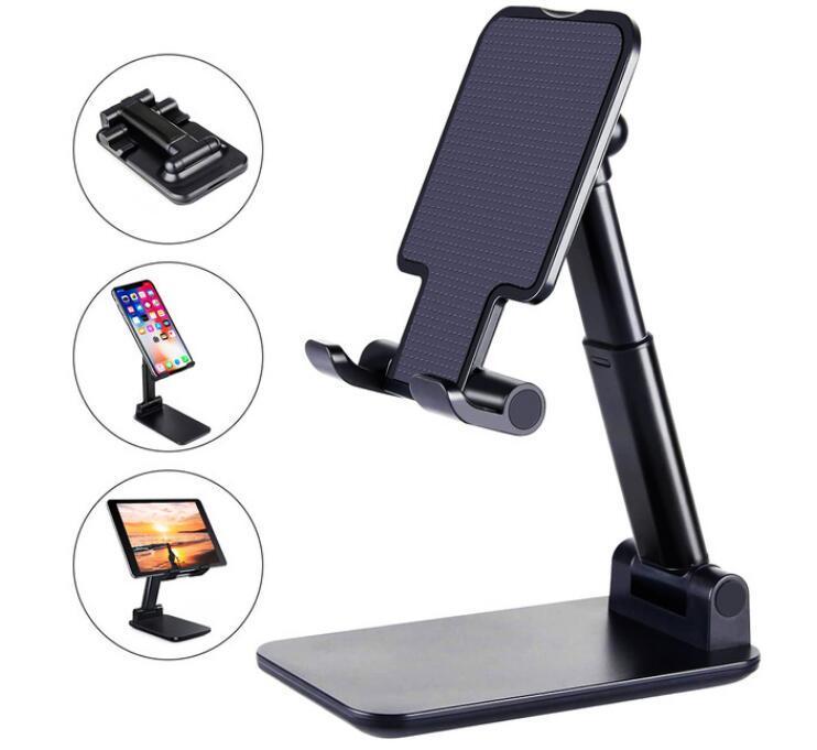 새로운 데스크탑 휴대 전화 홀더 스탠드 조정 가능한 데스크탑 태블릿 홀더 스마트 폰 태블릿 PC에 대 한 유니버설 테이블 휴대 전화 스탠드