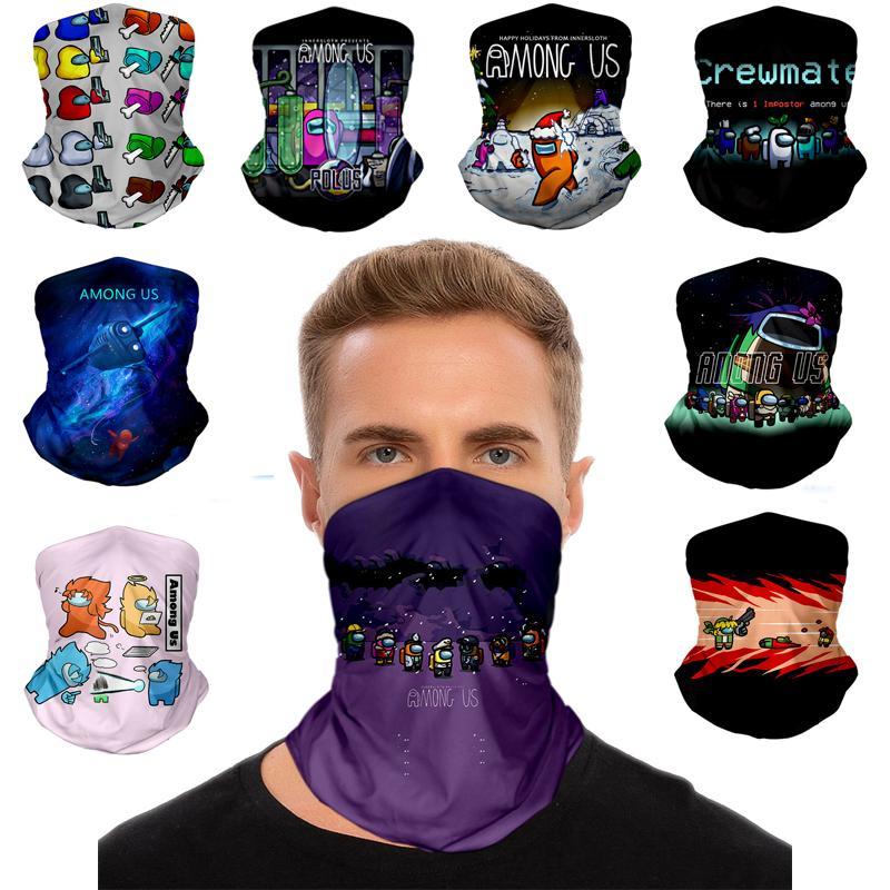 Среди нас маска для лица на открытом воздухе на открытом воздухе Ski велосипед мотоцикл шарфы бандана шеи наполненные вечеринки косплей полные маски