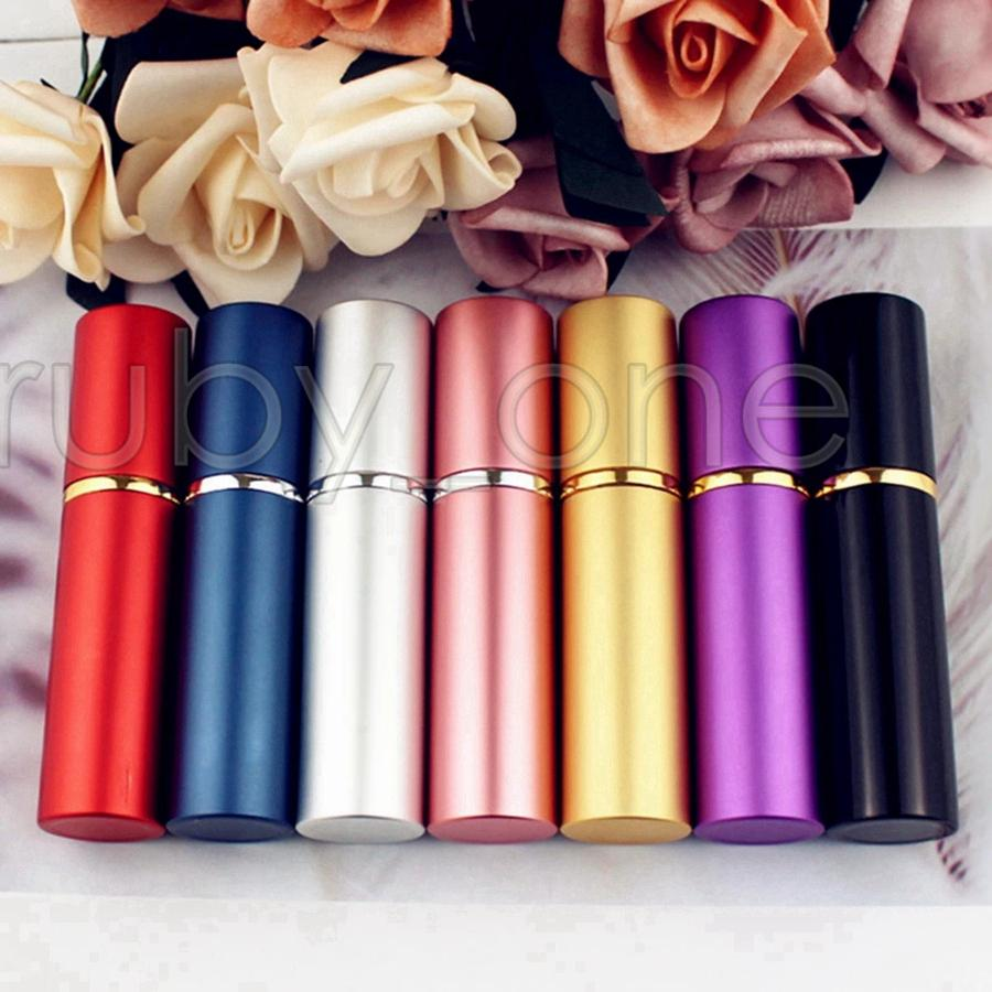 10ml Portable Mini Aluminum Refillable Perfume Bottle With Spray Empty Makeup Containers With Atomizer For Traveler Sea Shipping RRA4019