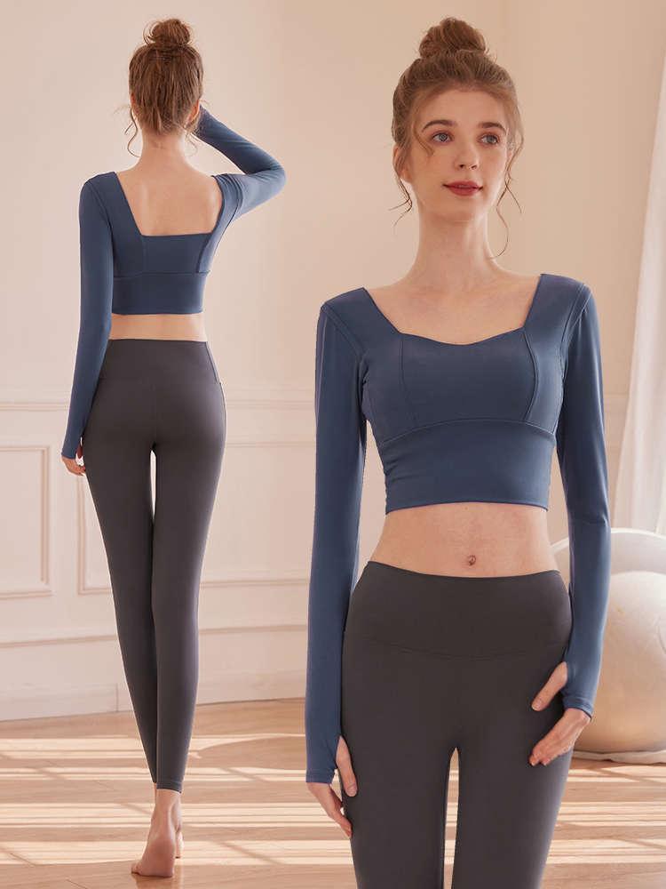 Yoga Anzug Damen Fitnessstudio Übung Herbst Winter Laufen Professionelle sexy Mode Temperament Xianqi Netz Rot Show dünn