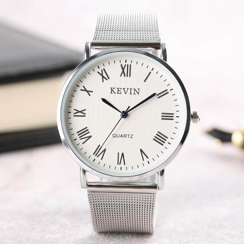 Relógios de pulso homens relógios luxo quartzo kevin esporte mulheres negócios moda couro cinta de aço casual masculino masculino masculino