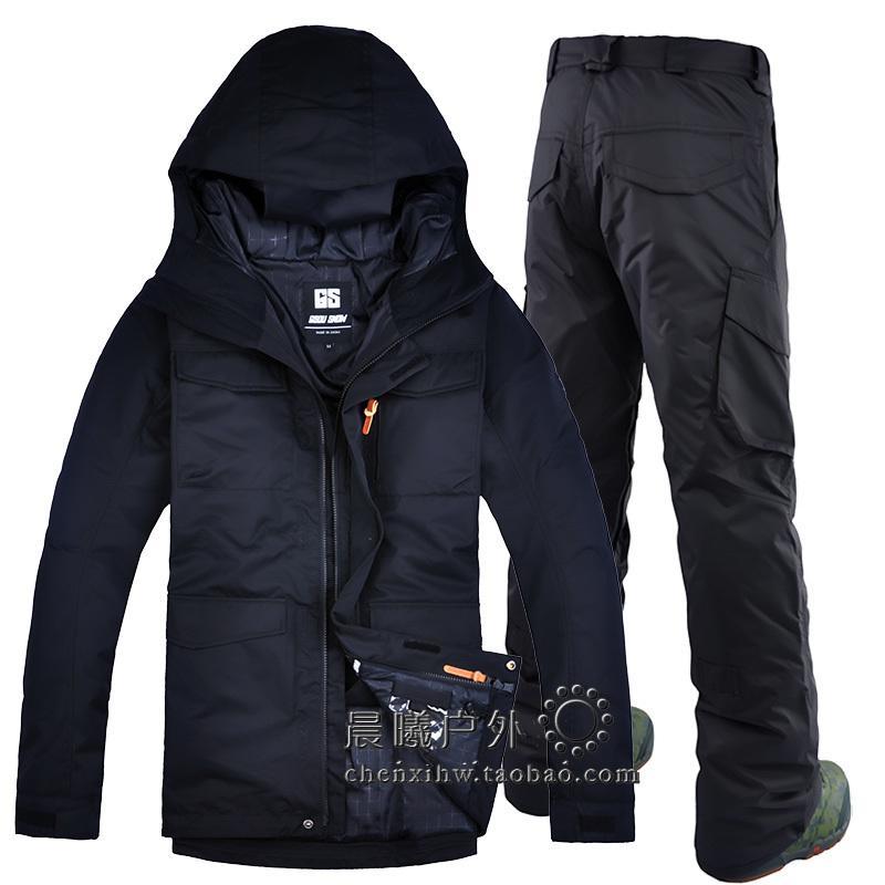 Gsou Neve Mens Ski Suits Ao Ar Livre Waterproof Windproof Ski Jacket and Calças Homens Snowboard Terno Winter Neve Casaco e Calças Z1128