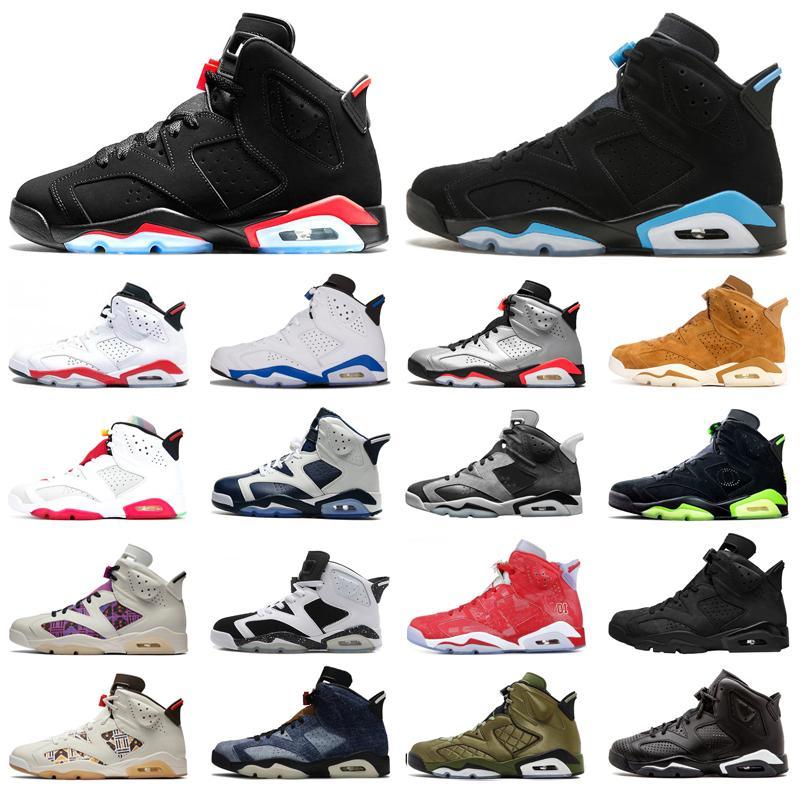 6 6S hommes chaussures de basketball infrarouge réfléchissant UNC Slam DUnk DMP DMP Golden Harvest Mens de sport Chaussures de sport en plein air Floral Alternate Trainer Sneakers