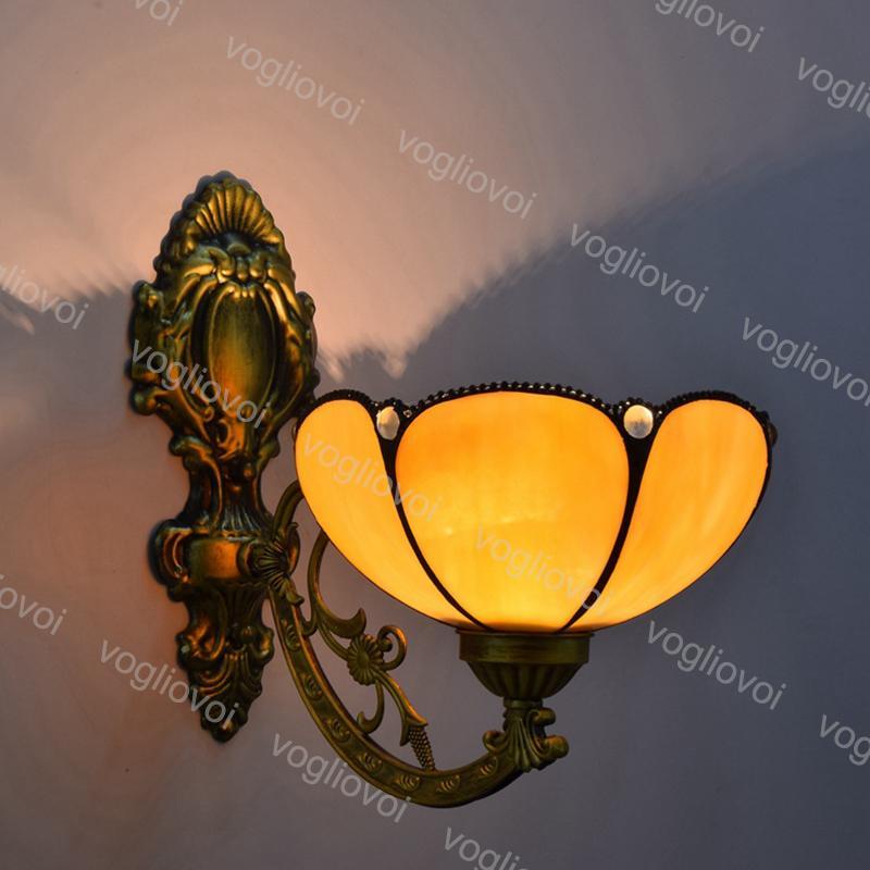 Lâmpadas de parede Sunflower Cabeça única Europeia Multicolor Espelho de vidro para viver sala de jantar Bar Bar Club Hall Aisle Balcão DHL