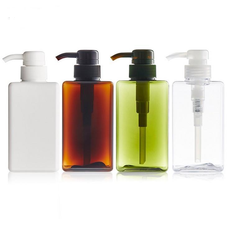 5pcs250ml Dropship Plastic Bomba vacía Dispensador Botella Cabello Beauty Shampoo Loción Ducha Gel Viaje Viaje Recuperable Botellas Contenedor