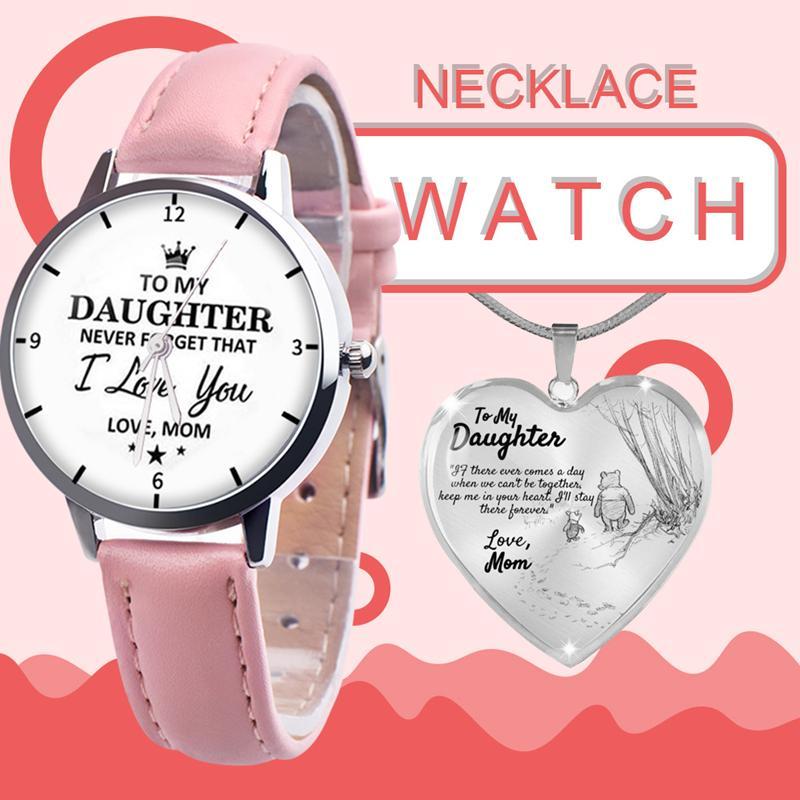 Heiße Prinzessin Liebhaber Uhren Schmuck 2 stücke Sets mit Halskette Tochter Geschenk Klassische Armbanduhr Hohe Quty Schmuck Paar Uhren DHL frei