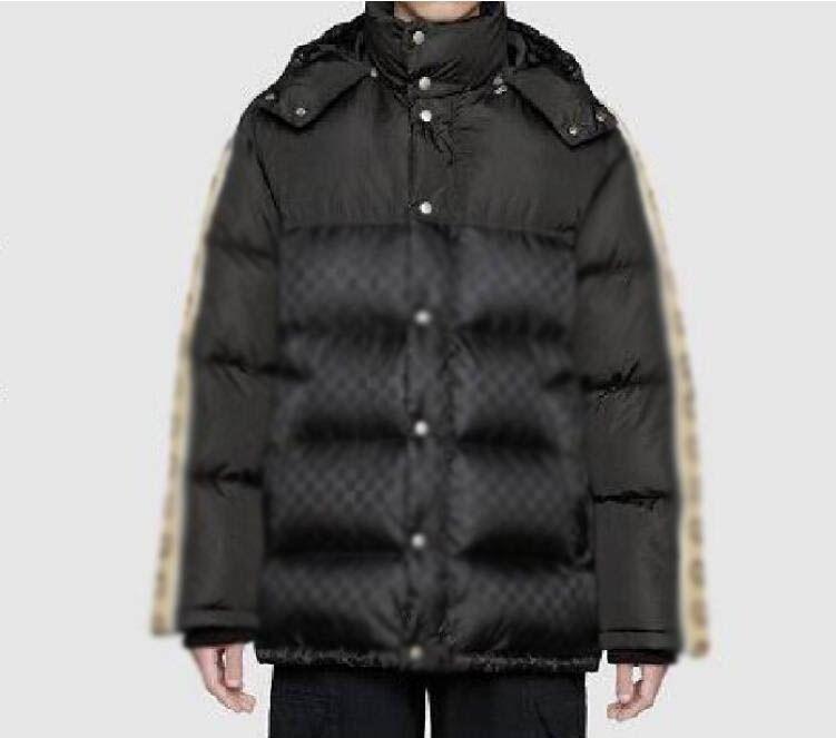 20ss İtalyan Sonbahar ve Kış Son Patlamalar Göğüs Mektubu Baskı Popüler Yüksek Kaliteli Giyim Moda Üst Yabani Pamuk Ceket Uzun Bl