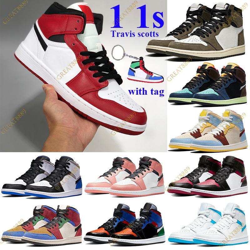 Yeni 1 1 S MID Chicago 2020 Erkek Kadın Basketbol Ayakkabı Orta Çok Patent Se Beyaz Siyah Kırmızı Alternatif Kırmızı Sarı Eğitmenler Sneakers