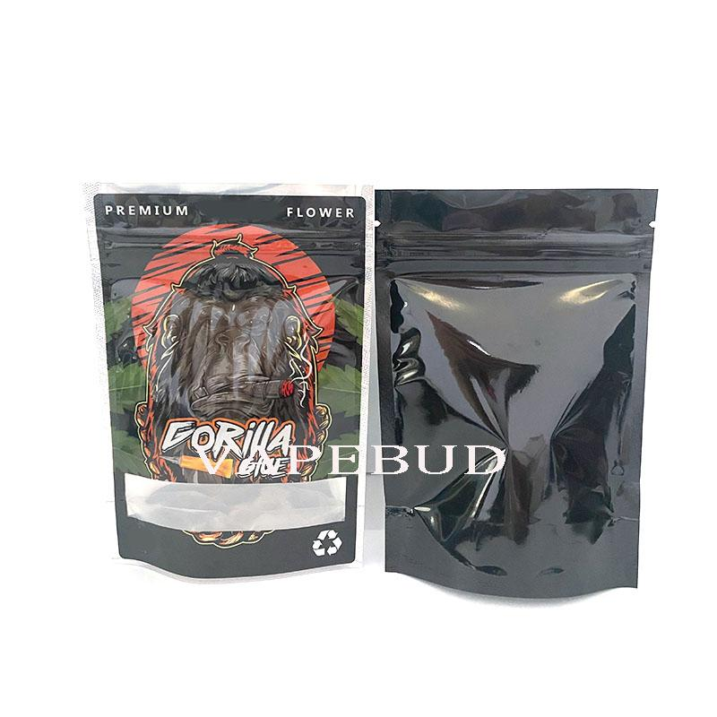 Gorilla Clue Runtz Jokes Up Ceaties Jungle Boys Movers 3.5G 7G Пахнуть Упаковка алюминиевая фольга Mylar Bags 420 ZIP пакет с логотипом