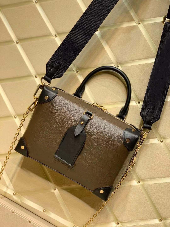 Farbe echte Tasche Beliebte 100% Womens Messenger Malle Souper Taschen Handtasche Leder Dame Handtasche Top Mode Umhängetasche Neueste Petite PU Gvku