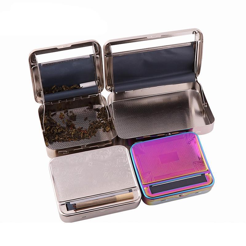 Sigara Haddeleme Makinesi Uzun Deri Paketi Metal Sigara Kutusu Kişilik Sigara Koruma Kutusu Bağımsız Karton Ambalajlı